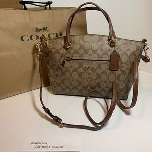 Coach Women's Satchel Prairie (Khaki Saddle)